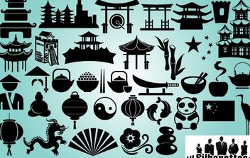 China Sing & Symbol Pack Silhouette - бесплатный vector #173713