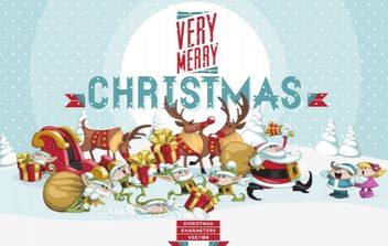 Funny Christmas Art & Character Pack - Free vector #173723