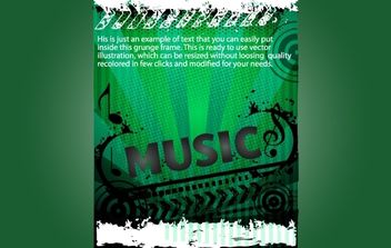 Grungy Green Template Musical Flyer - vector #173773 gratis