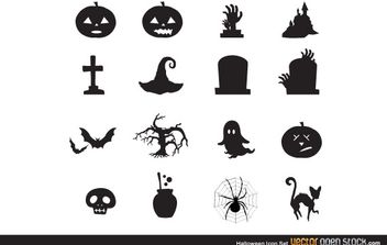 Halloween icon set - Free vector #173833
