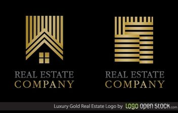 Luxury Gold Real Estate Logo - vector gratuit #173903