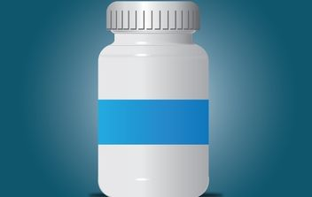 Pills Bottle Gray Intact - Free vector #174053