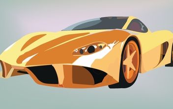 Ferrari Yellow Sports Car - Free vector #174103