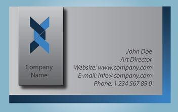 Gray Ribbon Business Card - vector gratuit #174253