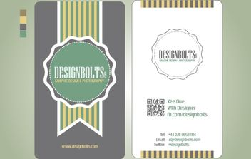 Vintage Business Card Template - vector gratuit #174293