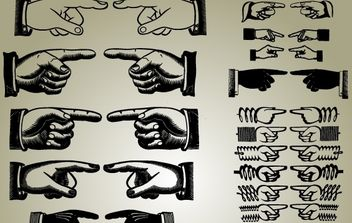 Set of Pointing Hands Vector - Kostenloses vector #174343