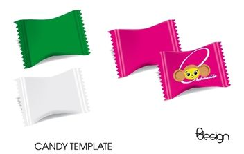 Vector Candy Template - vector gratuit #174363
