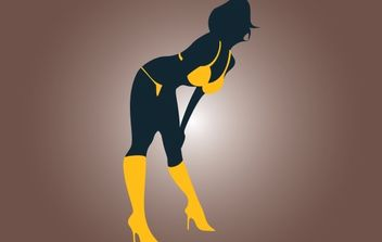 Silhouette Hot Strippers Vector - Free vector #174373