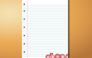 Blank Notebook Vector - Free vector #174393