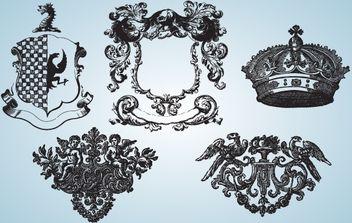 Vintage Medieval Heraldry - vector gratuit #174403