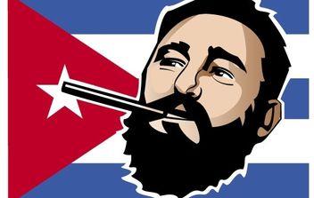 Fidel Castro Portrait - Free vector #174713