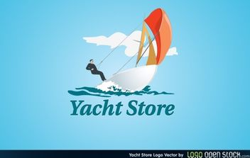 Yacht Store Logo - Free vector #174783