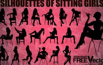 Vector Sitting Girls - Free vector #174923
