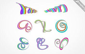 8 Free Ribbons - Free vector #174973