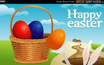 Easter Bunny Tricks - Free vector #174993