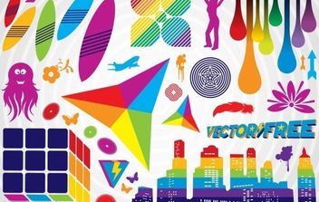 Colorful Graphics - vector gratuit #175013