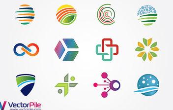 Mixed Logo Design Elements - Free vector #175113