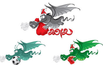 New Year dragon 2012 vector - Free vector #175163