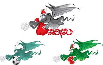 New Year dragon 2012 vector - Free vector #175163
