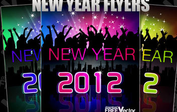 New Year Flyer in vector. - Free vector #175183