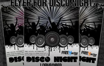 Vector Flyer For Disco Night - Free vector #175203