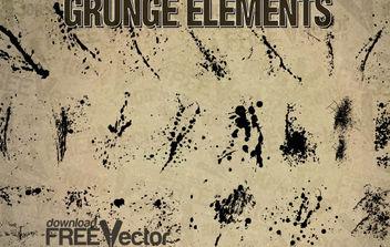 Vector Grunge Elements - Free vector #175213