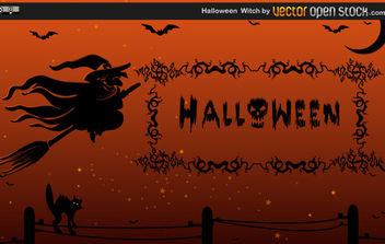 Halloween Witch - Free vector #175233