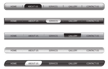 Beautiful Web Menu Bars - Free vector #175303