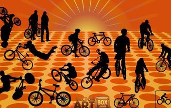 Lovely Vector Bicycles - vector gratuit #175403