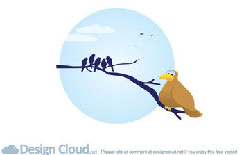 Free Vector Bird Branches - vector gratuit #175413