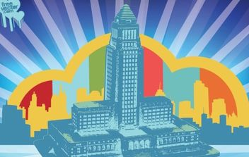 City Hall Vector - vector #175573 gratis