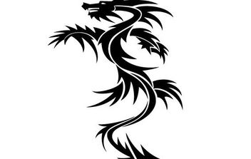 Dragon Tattoo Vector - Free vector #175603
