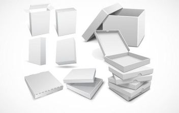3D Packaging box vector templates for your design - vector gratuit #175663