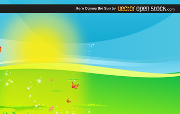 Here Comes the Sun - vector gratuit #175843