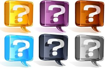 Colorful Question Mark Vector Set - vector gratuit #175923