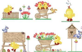 Easter Icons - vector #175933 gratis