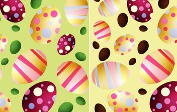 Easter Eggs - Free vector #175943