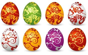 Easter Clip art Eggs - бесплатный vector #175953