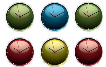 Clock Vector Illustrations - Free vector #175963