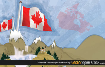 Canadian Landscape Postcard - Kostenloses vector #175983