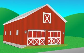Red Barn - Free vector #176083