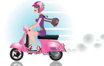 Scooter posh girl - Free vector #176163