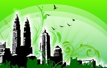 City Outline - vector #176193 gratis