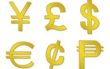 Golden Money Symbols - Free vector #176253