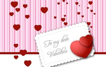 Valentines Day card vector - Free vector #176393