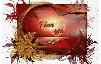 Valentine's Day Greeting Cards Vector - vector gratuit(e) #176403