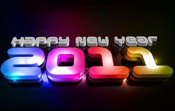 new year 2011 - vector gratuit #176573