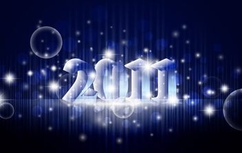 Banner New Year 2011 - vector gratuit #176583