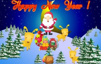 Vector New Year Card - бесплатный vector #176623