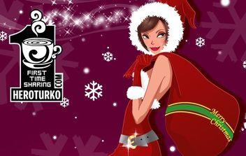 Lady Santa - vector #176633 gratis